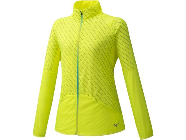 Mizuno Reflect Wind Jacket Women safety yellow